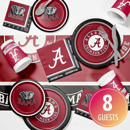 DTC4697C2A: CC University of Alabama Game Day Party Supplies Kit 8ct
