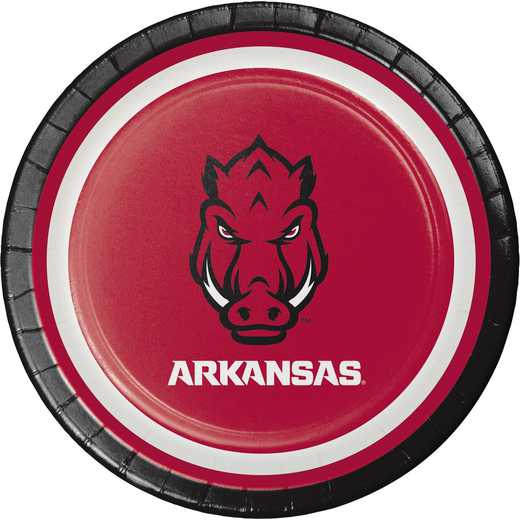 DTC419855PLT: CC University of Arkansas Dessert Plates - 24 Count