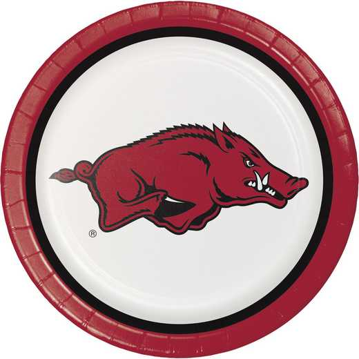 DTC420855DPLT: CC University of Arkansas Paper Plates - 24 Count