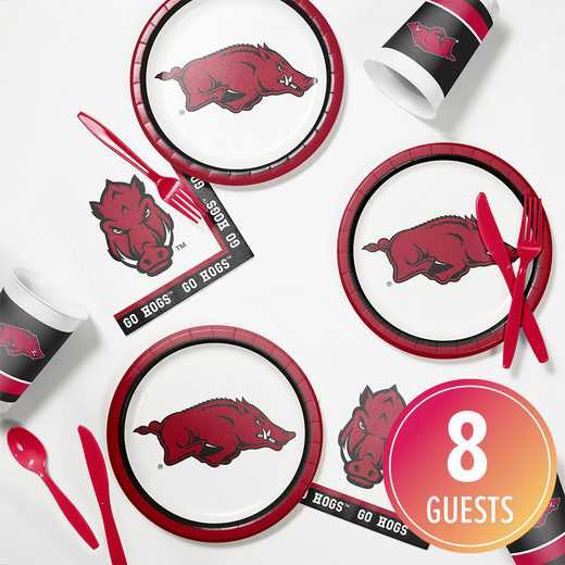 DTC4855C2B: CC University of Arkansas Tailgating Kit 8ct
