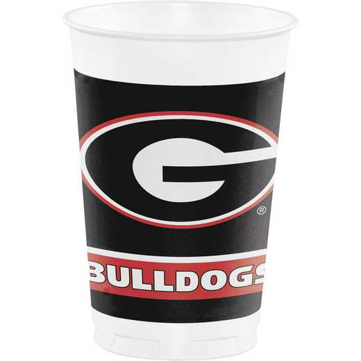 DTC336373CUP: CC University of Georgia 20 oz. Plastic Cups - 24 Count
