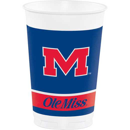 DTC374893TUMB: CC University of Mississippi Plastic Cups - 24 Count