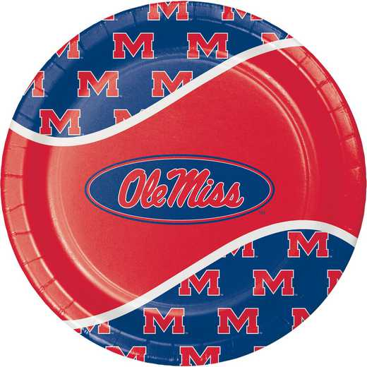 DTC424893DPLT: CC University of Mississippi Paper Plates - 24 Count