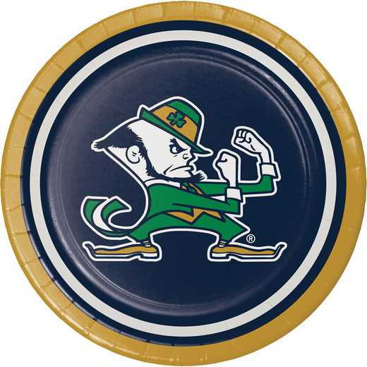 DTC333083PLT: CC University of Notre Dame Dessert Plates - 24 Count
