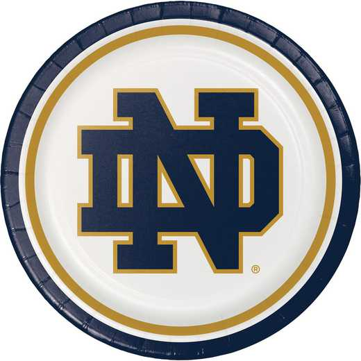 DTC333084DPLT: CC University of Notre Dame Paper Plates - 24 Count