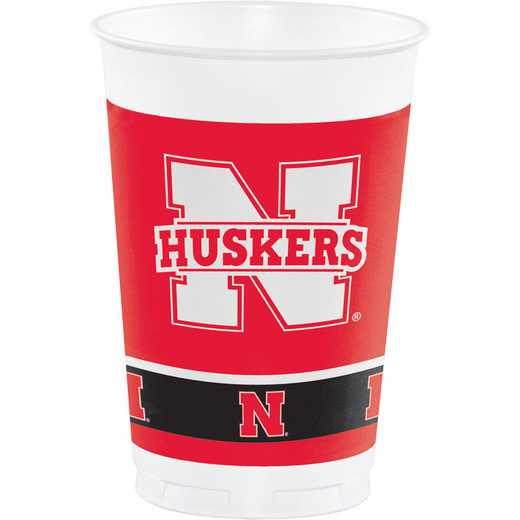 DTC379853TUMB: CC University of Nebraska Plastic Cups - 24 Count