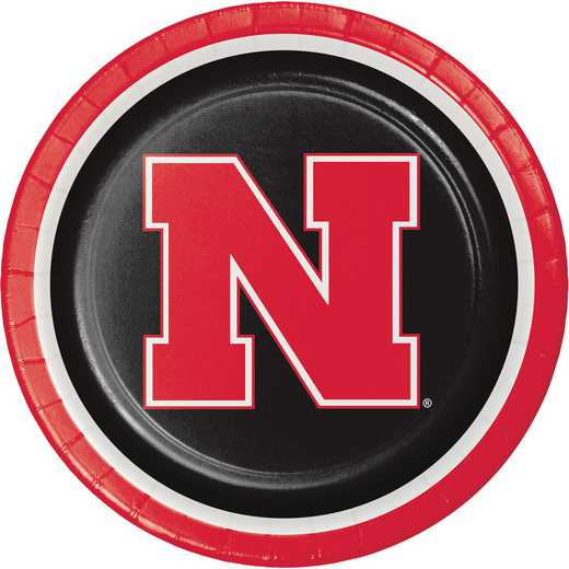 DTC429853DPLT: CC University of Nebraska Paper Plates - 24 Count