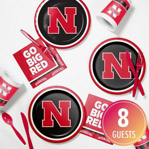 DTC4853C2B: CC University of Nebraska Tailgating Kit 8ct