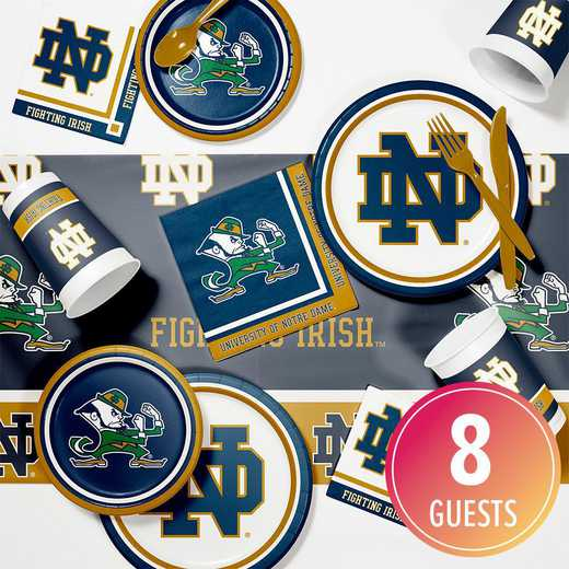 DTC4842C2D: CC University of Notre Dame Game Day Party Supplies Kit 8ct