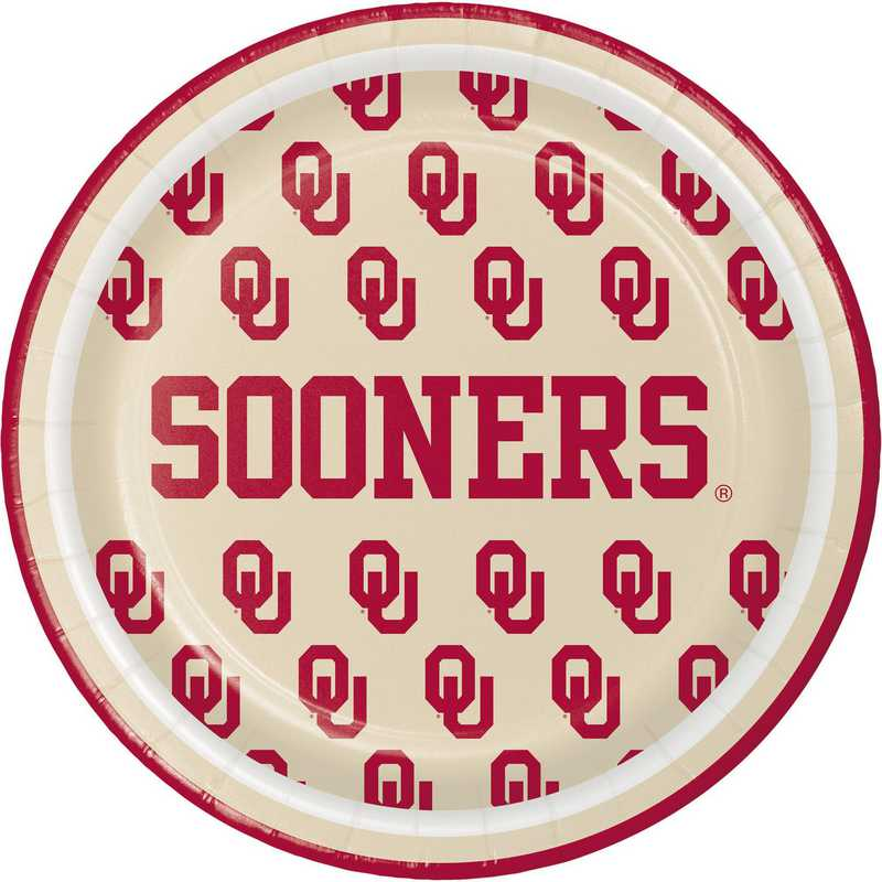 DTC414844PLT: CC University of Oklahoma Dessert Plates - 24 Count