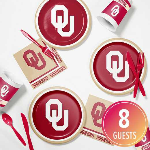 DTC4844C2B: CC University of Oklahoma Tailgating Kit 8ct