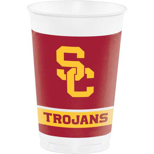 DTC330557TUMB: CC University of Southern California Plastic Cups - 24 Count