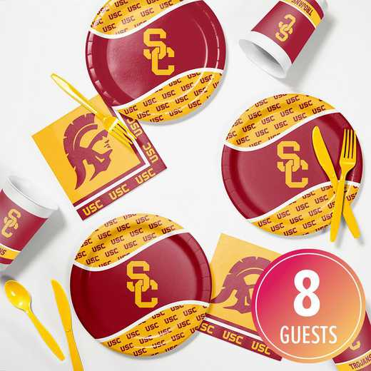DTC4857C2B: CC University of Southern California Tailgating Kit 8ct