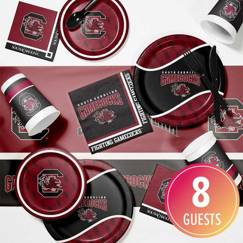 DTC4890C2A: CC Univ of South Carolina Game Day Party Supplies Kit 8ct