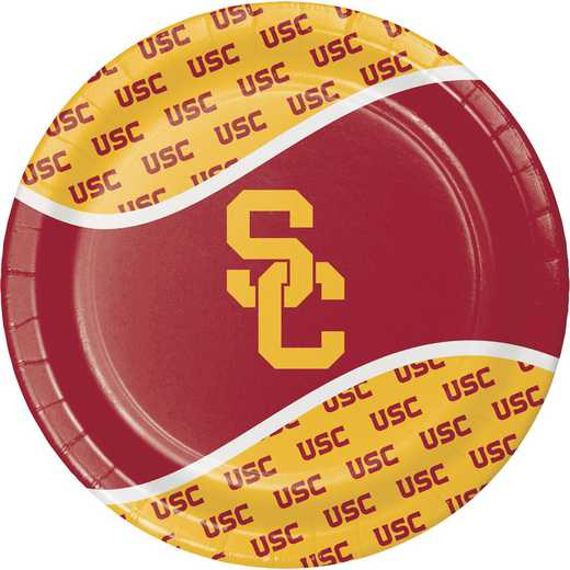 DTC330560DPLT: CC University of Southern California Paper Plates - 24 Count