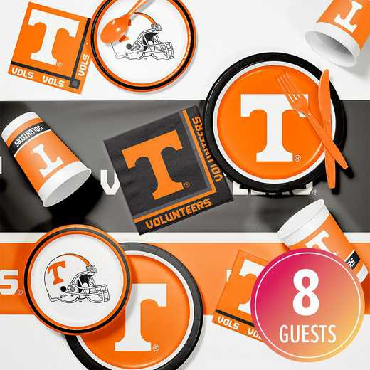 DTC4854C2A: CC University of Tennessee Game Day Party Supplies Kit 8ct