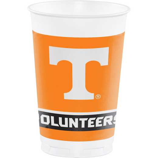 DTC329145TUMB: CC University of Tennessee Plastic Cups - 24 Count