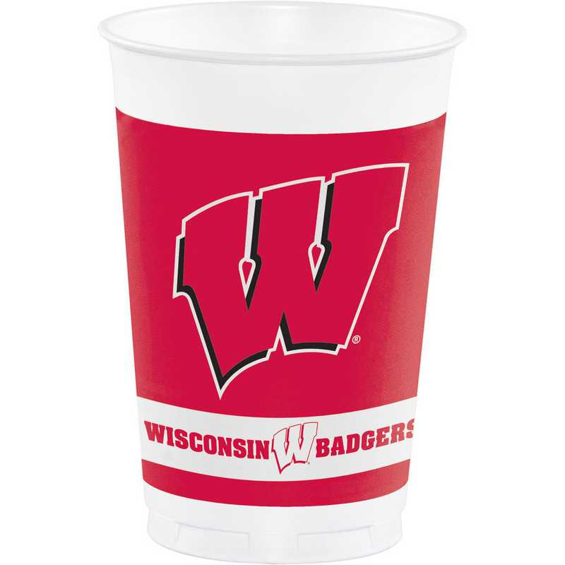 DTC014858TUMB: CC University of Wisconsin Plastic Cups - 24 Count