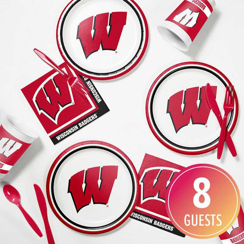 DTC4858C2B: CC University of Wisconsin Tailgating Kit 8ct