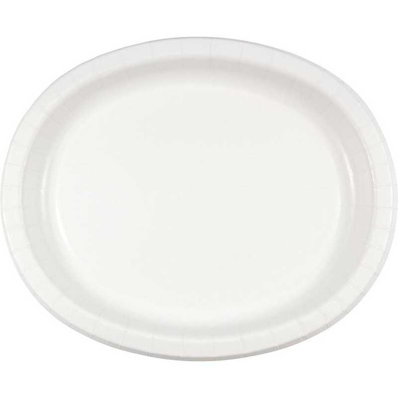 DTC433272OVAL: CC White Oval Plates - 24 Count