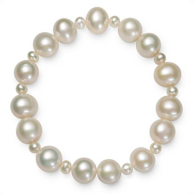 B-968-BF: 4-5MM Fwp & 9.5-10.5MM Freshwater Pearl Stretch Bracelet