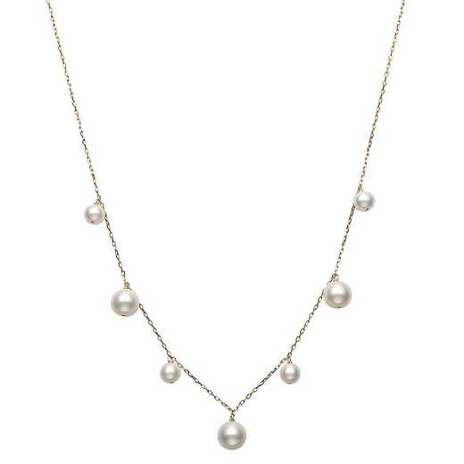 "N-1390Y-BF: CP 14KT YG 5-8½MM FWP 18"" NECKLACE"