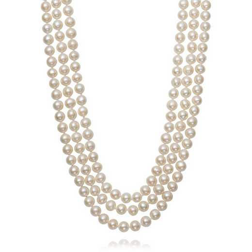 """QN-11374-BF: STERLING SILVER 7-7.5MM PEARL 17""""-18""""- 19"""" NECKLACE"""