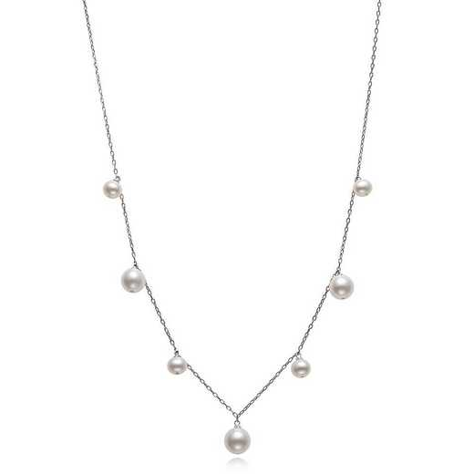 QN-11484-BF: Sterling Silver 5-8.5MM Freshwater Necklace