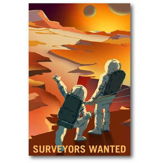Surveyors WantedGallery-Wrapped Canvas Wall Art