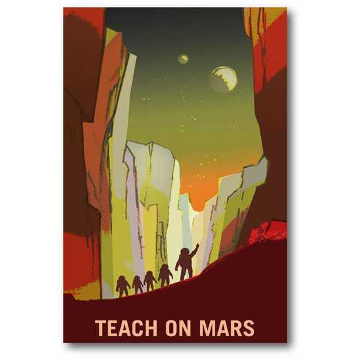 Teach on Mars Gallery-Wrapped Canvas Wall Art