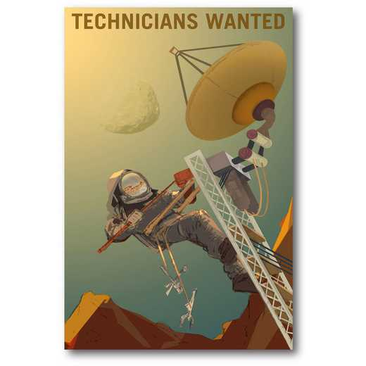 Technicians Wanted Gallery-Wrapped Canvas Wall Art