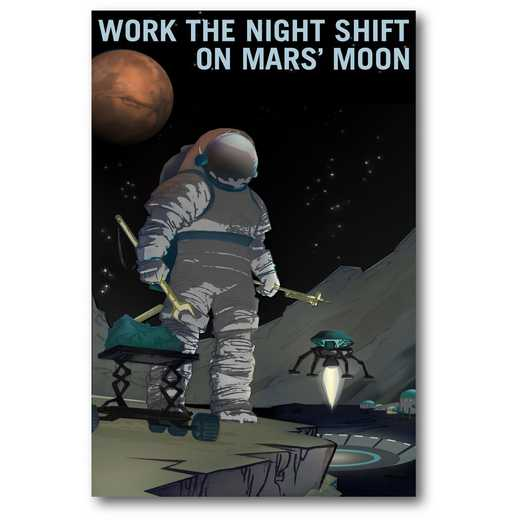 Work the Night Shift Gallery-Wrapped Canvas Wall Art