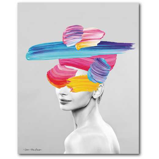 Colorful portrait Gallery-Wrapped Canvas Wall Art