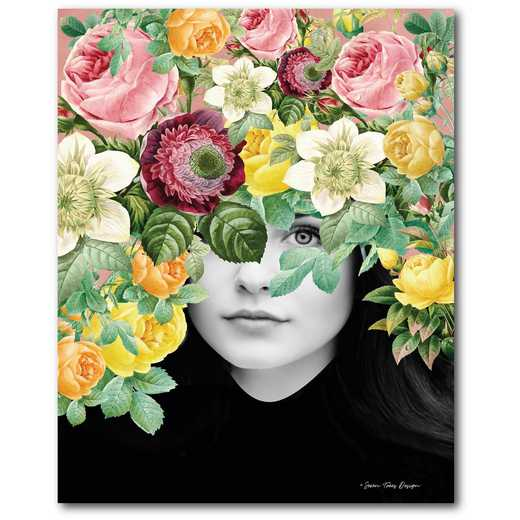 Floral portrait Gallery-Wrapped Canvas Wall Art