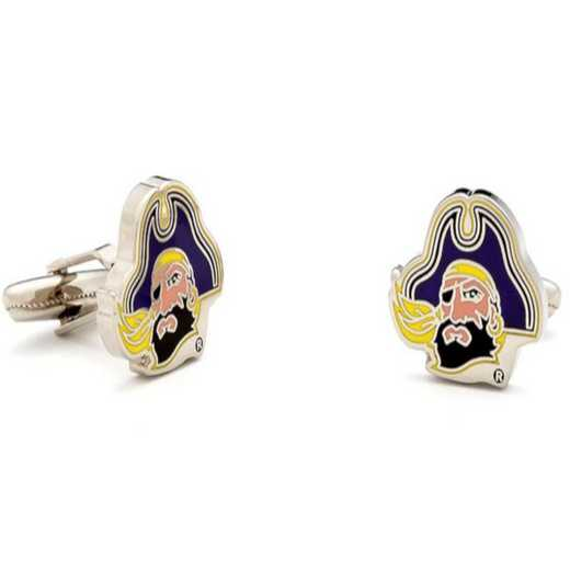 PD-ECP-SL: East Carolina Pirates Cufflinks