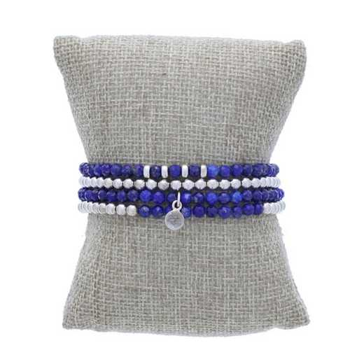 DBJ-STK-2825LAP: Sterling silver beads and quartz drop charm  with  lapis