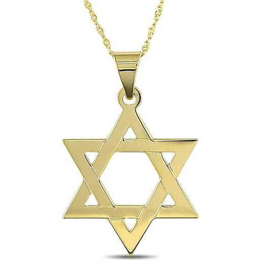 "BAL000620: ""Star of David"" PNDT W/ Cha  14k YLW GLD"