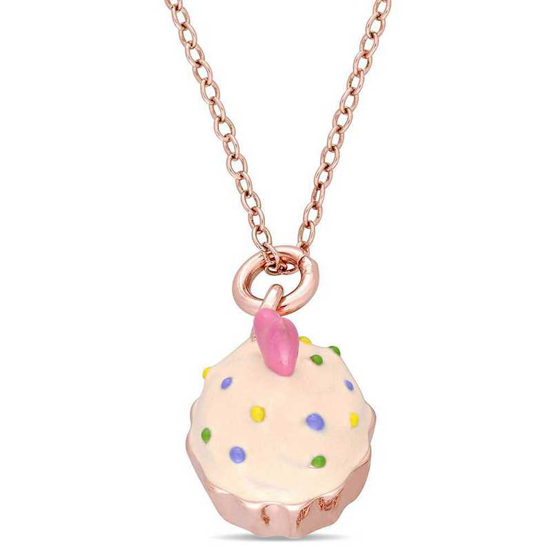 BAL000661: Cupcake PNDT W/ Cha  Rose plated SS and Enamel
