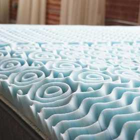 "DC-CA-GEL-TXL: 2"" Gel-Infused Memory Foam Twin XL Topper"