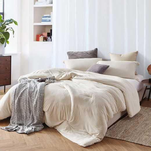 BAREBC-BYB-AM-TXL: Bare Bottom Comforter - Twin XL Bedding Almond Milk