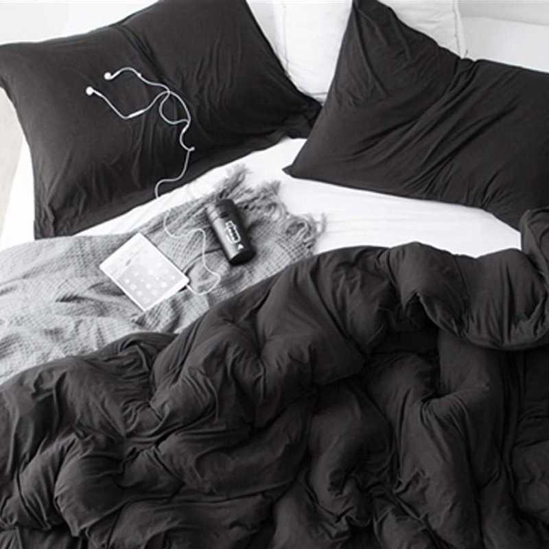 BAREBC-BYB-BLK-TXL : Bare Bottom Comforter - XL Twin Bedding Black
