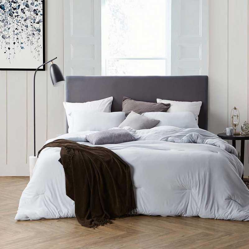 BAREBC-BYB-GG-TXL: Bare Bottom Comforter - Twin XL Bedding Glacier Gray