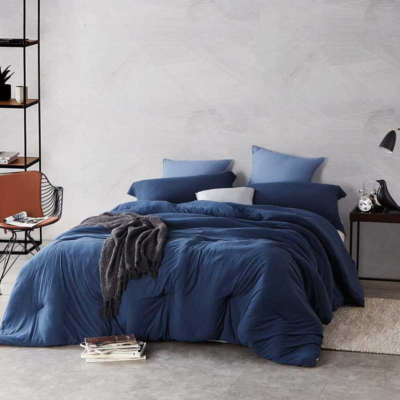 BAREBC-BYB-NN-TXL: Bare Bottom Comforter - Twin XL Bedding Nightfall Navy