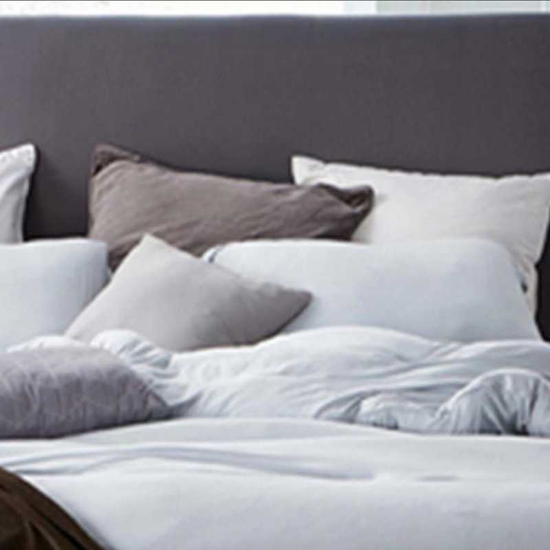 BAREBS-BYB-STND-GG-2PACK: DormCo Bare Bottom Standard Dorm Pillow Sham 2PkGlacierGray