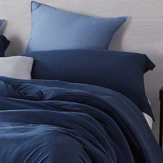 BAREBS-BYB-STND-NN-2PACK: DormCo Bare Bottom Dorm Pillow Sham 2 Pack - Nightfall Navy