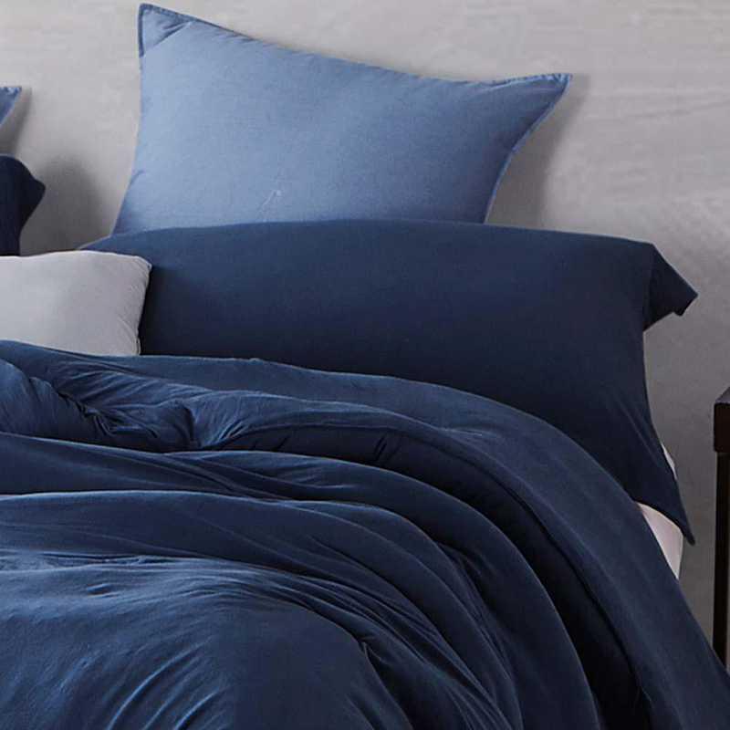 BAREBS-BYB-STND-NN-2PACK: DormCo Bare Bottom Dorm Pillow Sham 2 Pack - Nightfall Navy