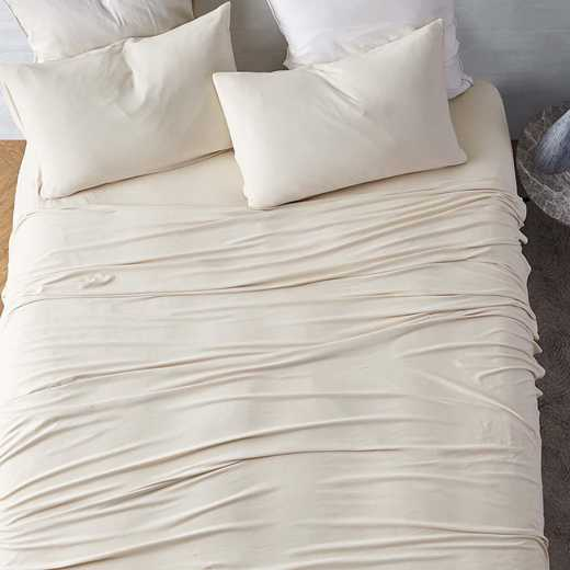 BAREBS-BYB-AM-TXL: Bare Bottom Sheets All Season Twin XL Bedding Almond Milk