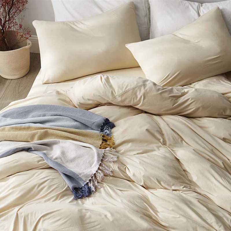 BAREBS-BYB-CRM-TXL: Bare Bottom Sheets Winter Warmth Twin XL Bedding Cream