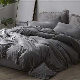 BAREBS-BYB-GRY-TXL: Bare Bottom Sheets - Winter Warmth - Twin XL Bedding - Gray