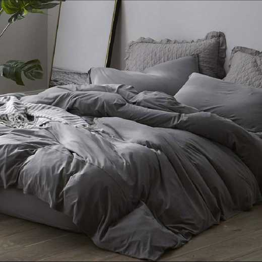 BAREBS-BYB-GRY-TXL: Bare Bottom Sheets - Winter Warmth - Twin XL Bedding - Gray